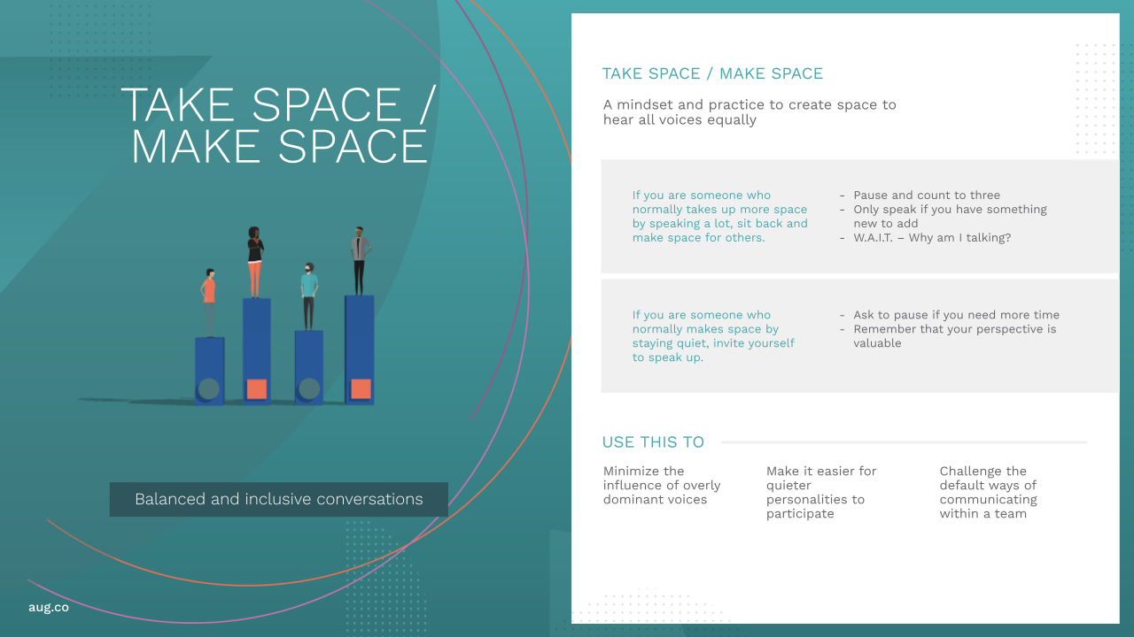 August Playbook - Take Space Make Space