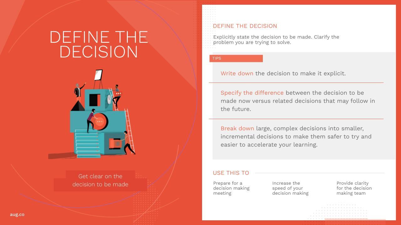 August Public Define the Decision Practice Card